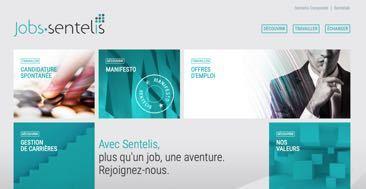 SENTELIS : création d'un site Internet de recrutement RH